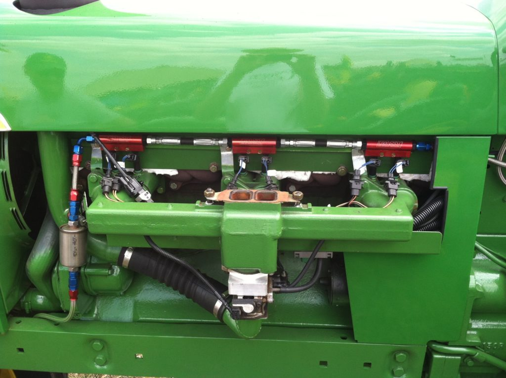 powering a gas tractor